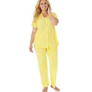 Pajama Set Button Front Shirt & Pants NWOT